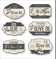 olive oil retro vintage labels collection 0124 vector image vector image