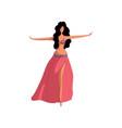 oriental dance professional dancer concept vector image vector image