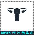 ovaries icon flat vector image vector image