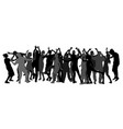 party dancer people girls and boys silhouette vector image vector image