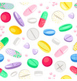 pills seamless pattern vector image vector image
