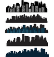 silhouette cities vector image vector image