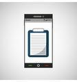 smartphone medicine list report application icon vector image vector image