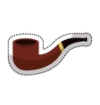 Smoking pipe isolated icon vector image vector image