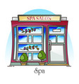 spa salon or woman beauty building parlor vector image vector image