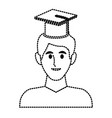 student with hat avatar vector image vector image
