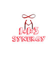 synergy concept hand drawn vector image vector image