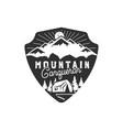 traveling outdoor badge mountain conqueror vector image vector image
