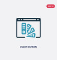 two color color scheme icon from web hosting vector image