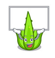 up board aloevera character cartoon style vector image