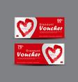 valentines day discount voucher gift voucher temp vector image