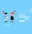 valentines day isometric concept a couple in love vector image