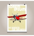 Vintage poster with high detail plane Motivation vector image vector image