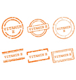 Vitamin E stamps vector image vector image