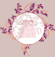White plant branch on pink template v vector image vector image