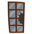 window with broken glass vector image vector image