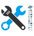 Wrenches Icon With Air Drone Tools Bonus vector image vector image