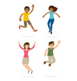 young teenage happy and jump expression vector image vector image