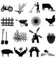 Farm icons set vector image