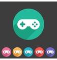 Game joystick flst icon badge vector image