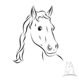 stylized horse head vector image