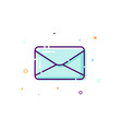 concept mail icon thin line flat design element vector image