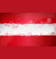 polygonal background austria low poly flag vector image