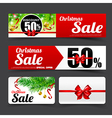 019 Collection of merry christmas sale tag banner vector image