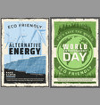 alternative energy sources world environment day vector image