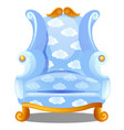 armchair with texture of clouds isolated on white vector image vector image