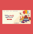 birthday party anniversary landing page vector image vector image