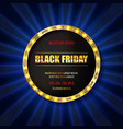 black friday special offer on gold badge vector image vector image