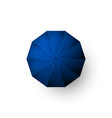 blue umbrella top view open parasol isolated vector image