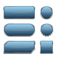Blue Web Buttons vector image