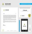 bulb business letterhead calendar 2019 and mobile vector image vector image