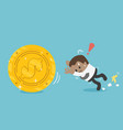 business concept cartoon african businessman vector image