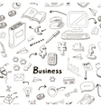 business doodles seamless pattern vector image vector image