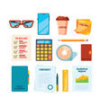 business symbols pages markers daily checklists vector image vector image
