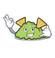 call me guacamole mascot cartoon style vector image vector image