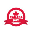 canada day maple leaf banner insignia flat style vector image