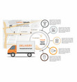 cargo delivery business infographic vector image vector image