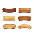 Cartoon wood blank banners and ribbons western vector image vector image