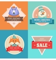 Christmas hipster animals Sale card vector image vector image