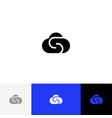 cloud with letter s logo cloud with s vector image