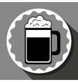 Cold and delicious beer vector image