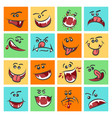 colorful emoticon faces cute vector image vector image