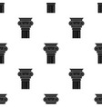 Column icon in black style isolated on white