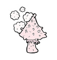 comic cartoon mushroom vector image vector image