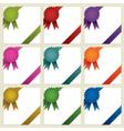 corner rosette ribbons vector image vector image