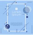 creative template rectangle border frame blue vector image vector image